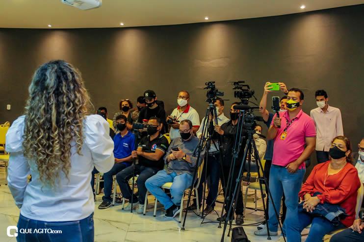Prefeita Cordélia anuncia durante coletiva de imprensa, a Live São João se Encontra com Pedrão em Eunápolis 125