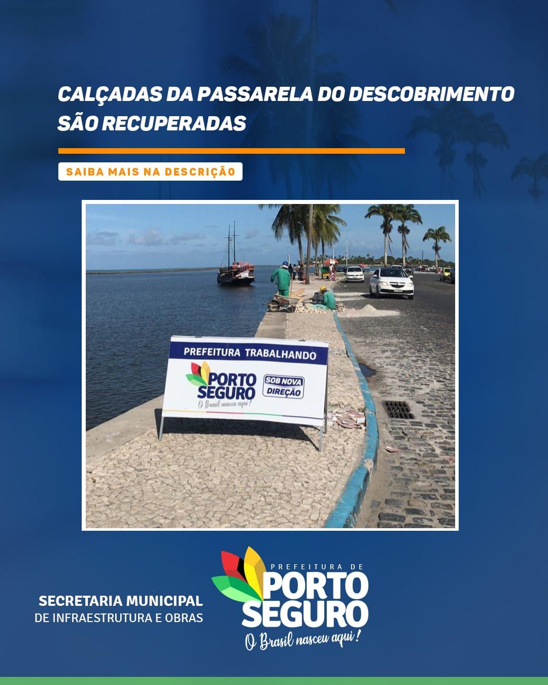 Porto Seguro: Calçadas da Passarela do Descobrimento são recuperadas 18