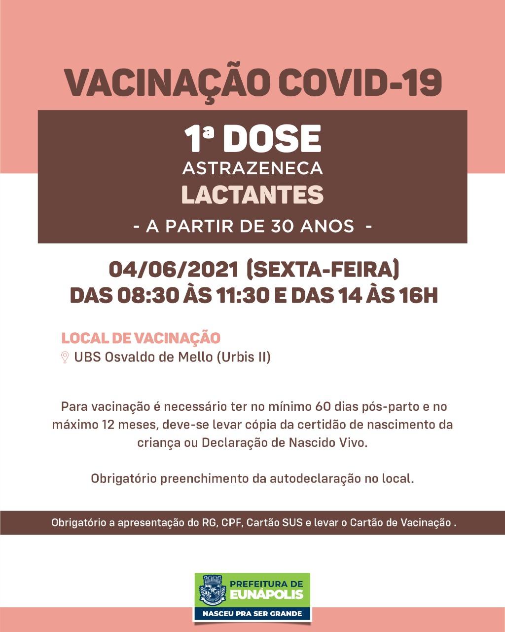 Eunápolis: Confira cronograma de vacinação Covid-19 32