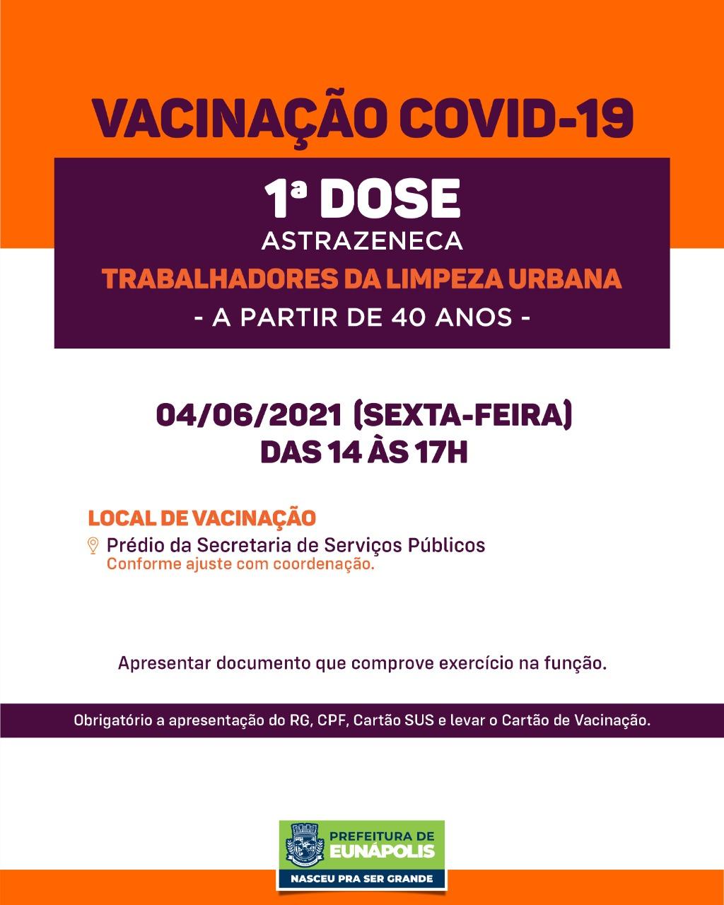 Eunápolis: Confira cronograma de vacinação Covid-19 33