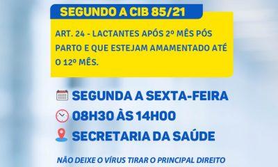 VACINAÇÃO COVID-19 (MÃES LACTANTES) 56