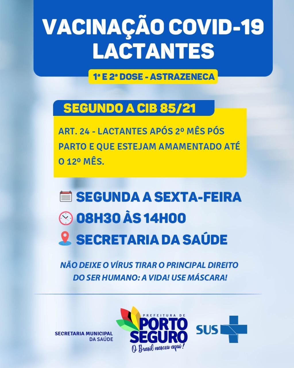 VACINAÇÃO COVID-19 (MÃES LACTANTES) 18