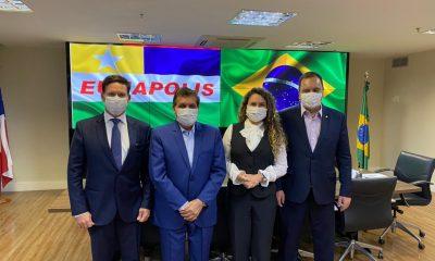 Eunápolis: Prefeita Cordélia visita ministra Damares Alves e João Roma 54