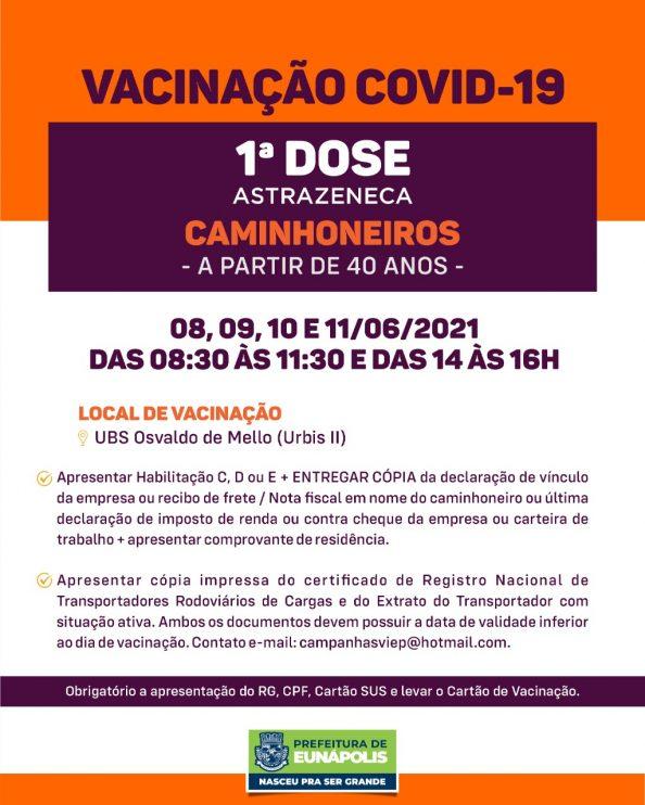 Eunápolis: Secretaria de Saúde informa o cronograma da semana de vacinação contra à Covid-19 42