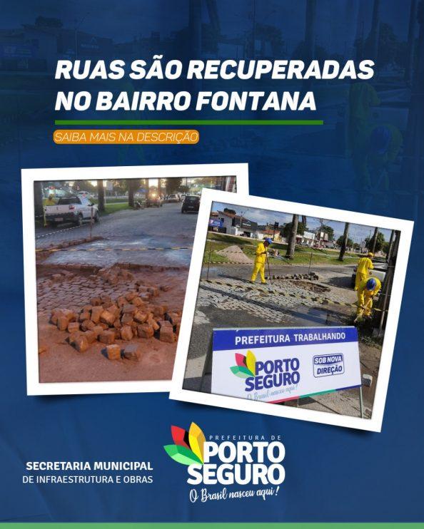 PORTO SEGURO: Ruas são recuperadas no bairro Fontana 18