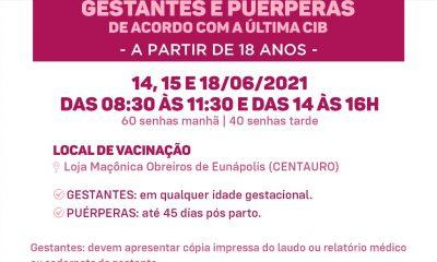 Eunápolis: Vacinação Covid-19 gestantes e puérperas 45