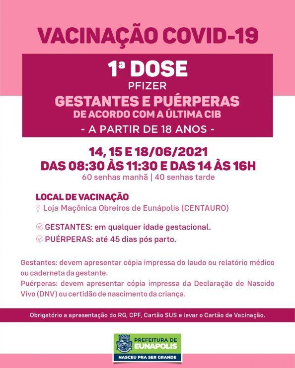 Eunápolis: Vacinação Covid-19 gestantes e puérperas 18
