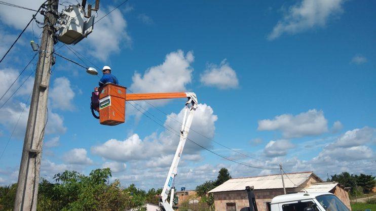 Zona rural de Eunápolis recebe manutenção em iluminação pública 20