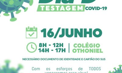 O Governo Municipal de Itagimirim realiza o Dia D de Testagem da COVID-19 nesta quarta feira, (16/Jun). 41