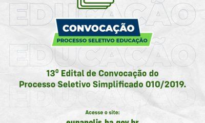 Município de Eunápolis faz convocação aos seletivados da Educação 37