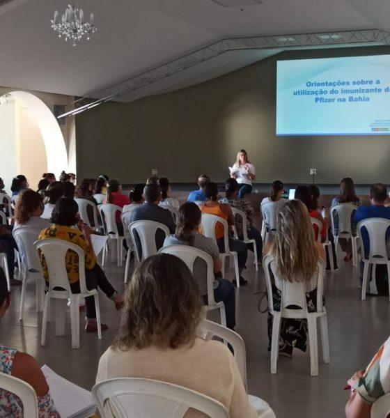 Eunápolis recebe novas doses de vacina contra covid19 e requalifica equipes de aplicação 71