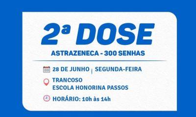 VACINAÇÃO CONTRA A COVID-19 SEGUNDA DOSE TRANCOSO 36
