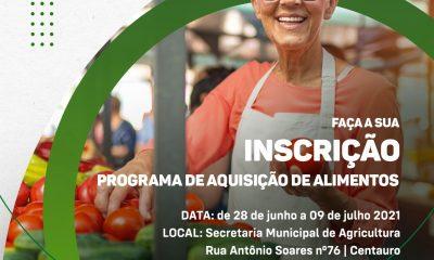 Secretaria de Agricultura convoca agricultores para cadastramento e recadastramento do Programa de Aquisição de Alimentos 61