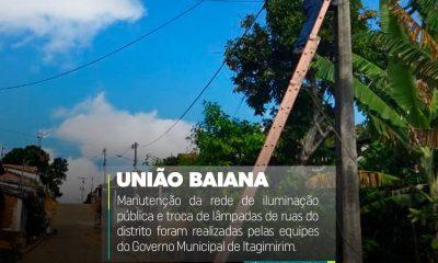Prefeitura de Itagimirim realiza manutenção da rede elétrica e troca de lâmpadas em União Baiana 48