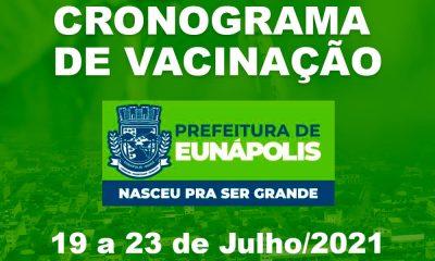 Eunápolis: Cronograma de vacinação contra à Covid-19/ 19 a 23 de Julho/2021 23