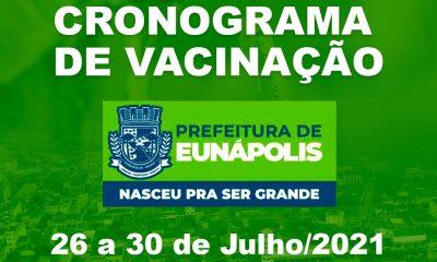 Eunápolis: Cronograma de vacinação contra à Covid-19: 26 a 30 de Julho/2021 47