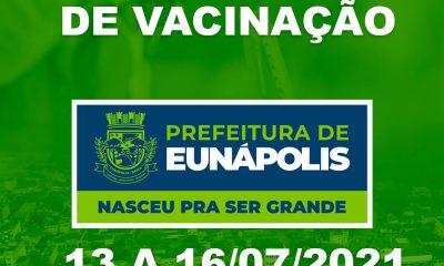 Eunápolis: Cronograma de vacinação contra à Covid-19 – 13 a 16 de Julho/2021 30