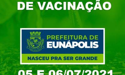 Eunápolis: Cronograma de vacinação contra à Covid-19 – 05 e 06 de Julho/2021 64