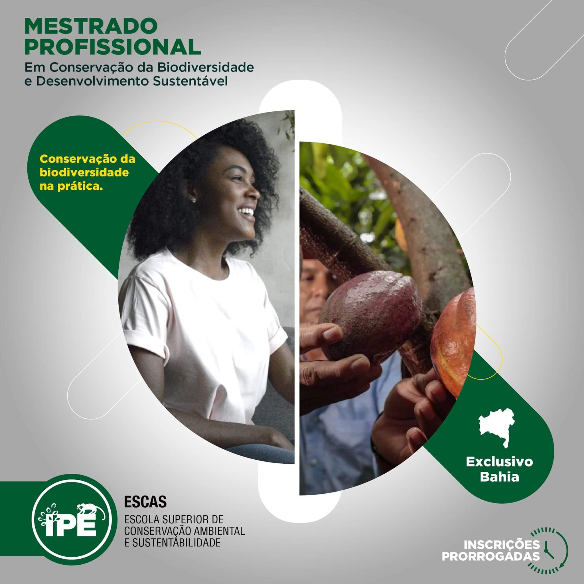 Instituto IPÊ prorroga inscrições para Mestrado Profissional em Conservação da Biodiversidade e Desenvolvimento Sustentável que possui parte presencial realizada na RPPN Estação Veracel 18