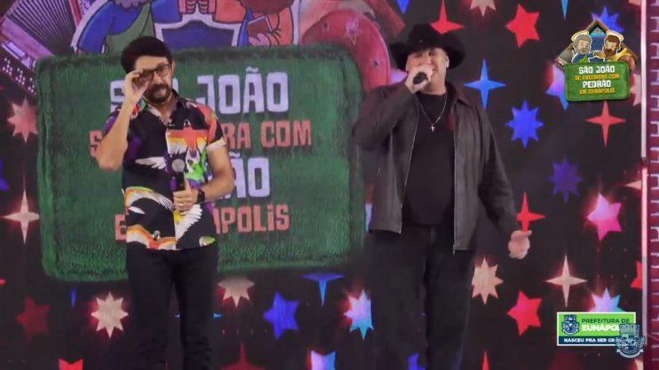 """Adelmário Coelho e Roni Brasil fecham com chave de ouro a última noite da live """"São João se Encontra com Pedrão em Eunápolis"""" 46"""