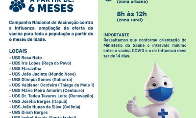 Eunápolis: Chegou a sua vez de vacinar contra GRIPE (Influenza h1n1) 31