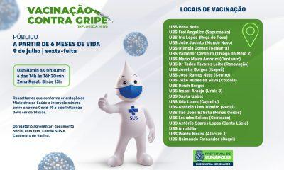 Secretaria de Saúde realiza Dia D da vacinação contra a gripe nesta sexta-feira 39