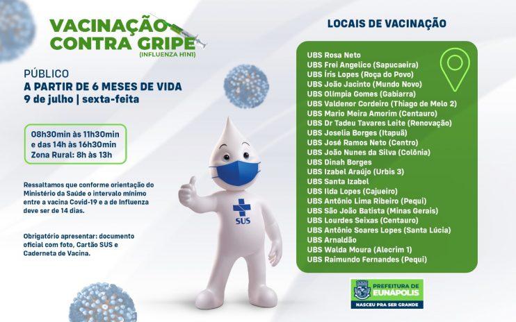 Secretaria de Saúde realiza Dia D da vacinação contra a gripe nesta sexta-feira 18