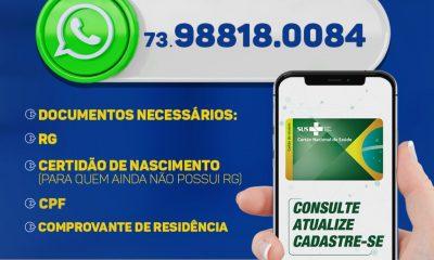 Porto Seguro: Você sabia que já é possível tirar seu cartão SUS pelo Whatsapp? 46