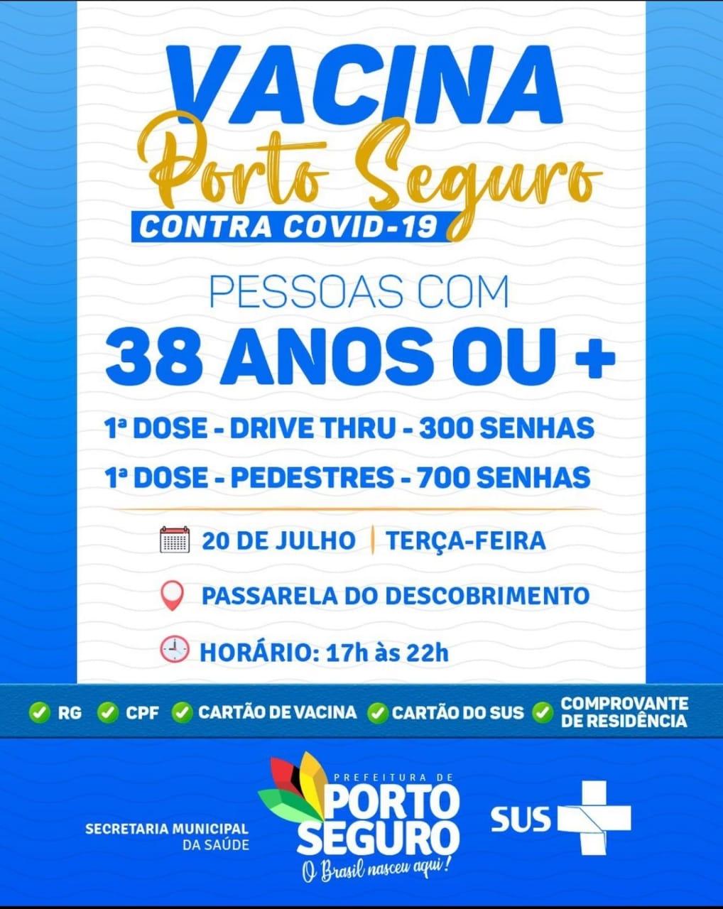 PORTO SEGURO: TERÇA É DIA DE VACINAÇÃO CONTRA A COVID-19 20