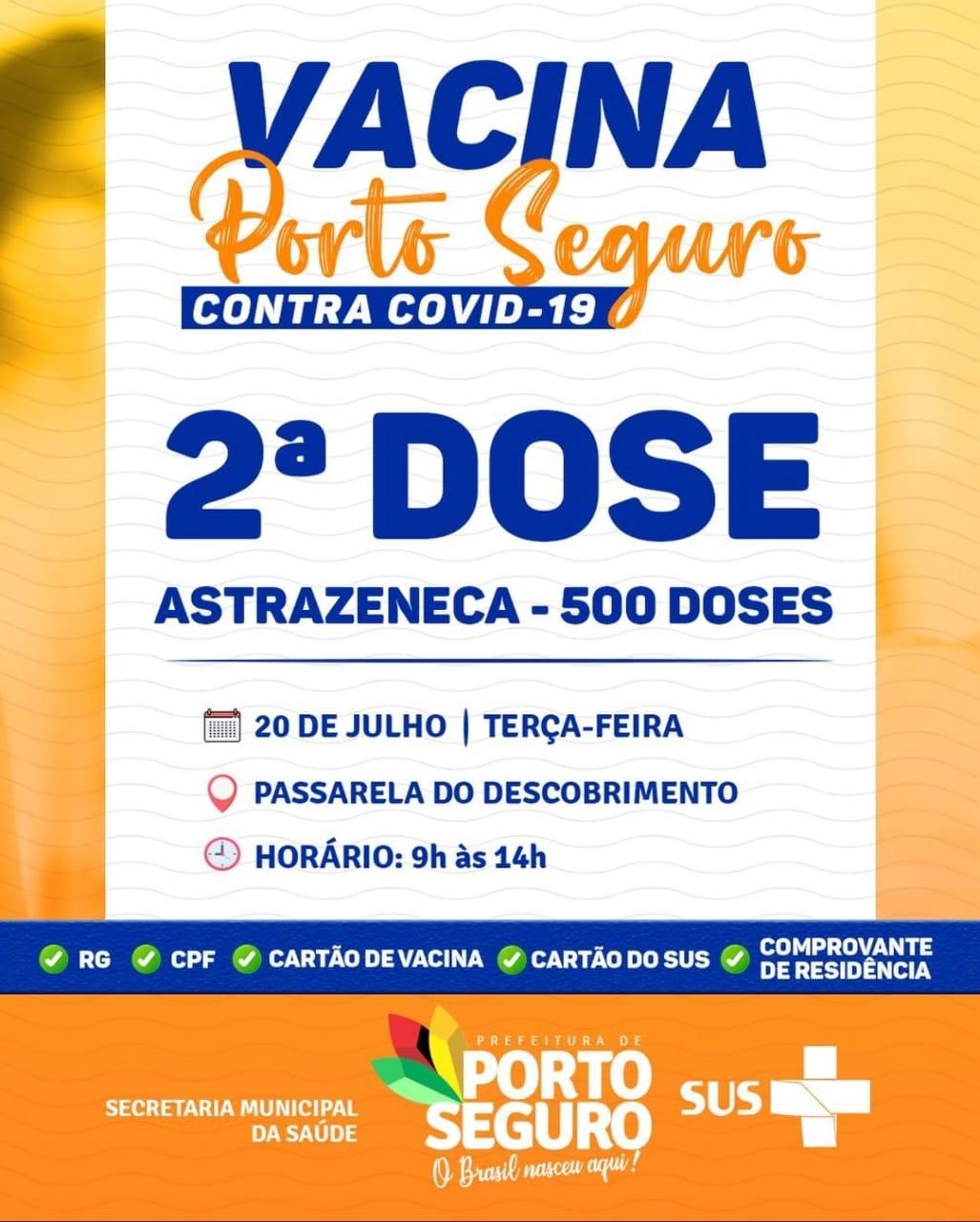 PORTO SEGURO: TERÇA É DIA DE VACINAÇÃO CONTRA A COVID-19 21