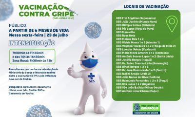 Eunápolis intensifica vacinação contra gripe Influenza H1N1 21