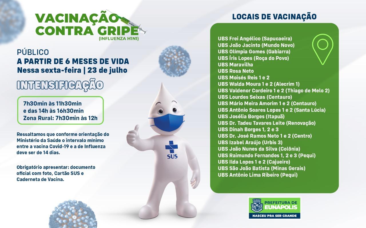 Eunápolis intensifica vacinação contra gripe Influenza H1N1 18