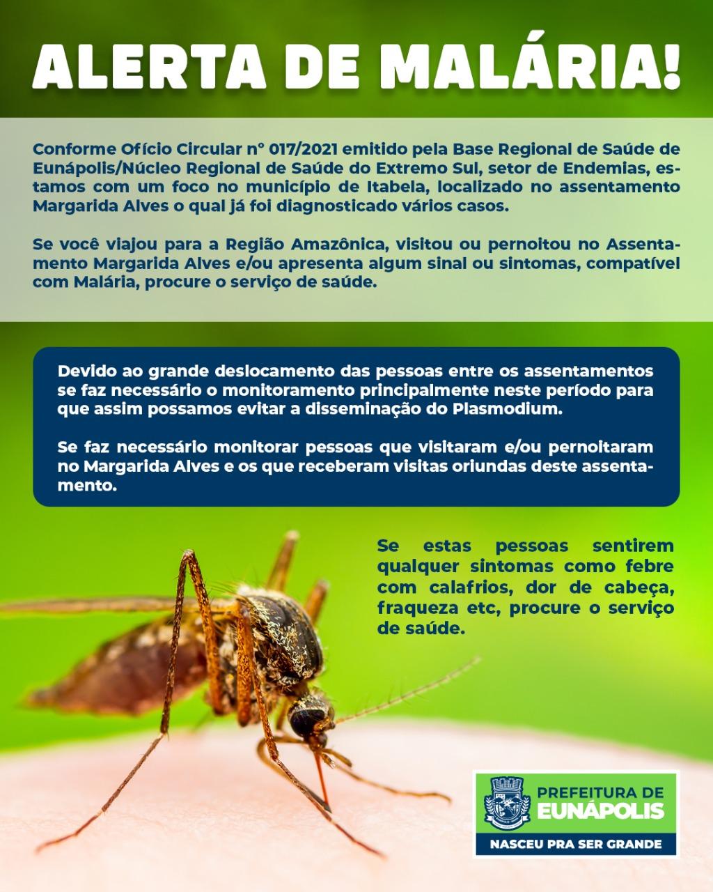 Prefeitura de Eunápolis reforça alerta à população sobre aumento de casos de malária na região 16