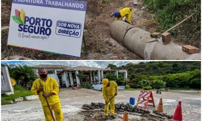 Porto Seguro: Ladeira do Outeiro da Glória recebe manutenção & Novo sistema de drenagem é instalado no Parque Ecológico 109