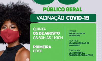Secretaria de Saúde informa cronograma de imunização contra a Covid-19 desta quinta-feira 28