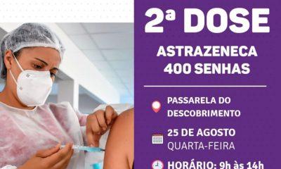 Porto Seguro: Cronograma de Vacinação contra a Covid-19 (dia 25 de agosto) 61