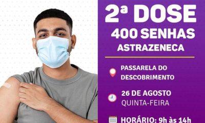 Porto Seguro: Cronograma de Vacinação contra a Covid-19 (dia 26 de agosto) 56