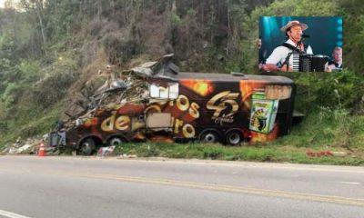 Vocalista e um dos fundadores da banda Garotos de Ouro morre em acidente com ônibus da banda 137