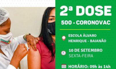Porto Seguro: Cronograma de Vacinação contra a Covid-19 (10 de SETEMBRO) 38