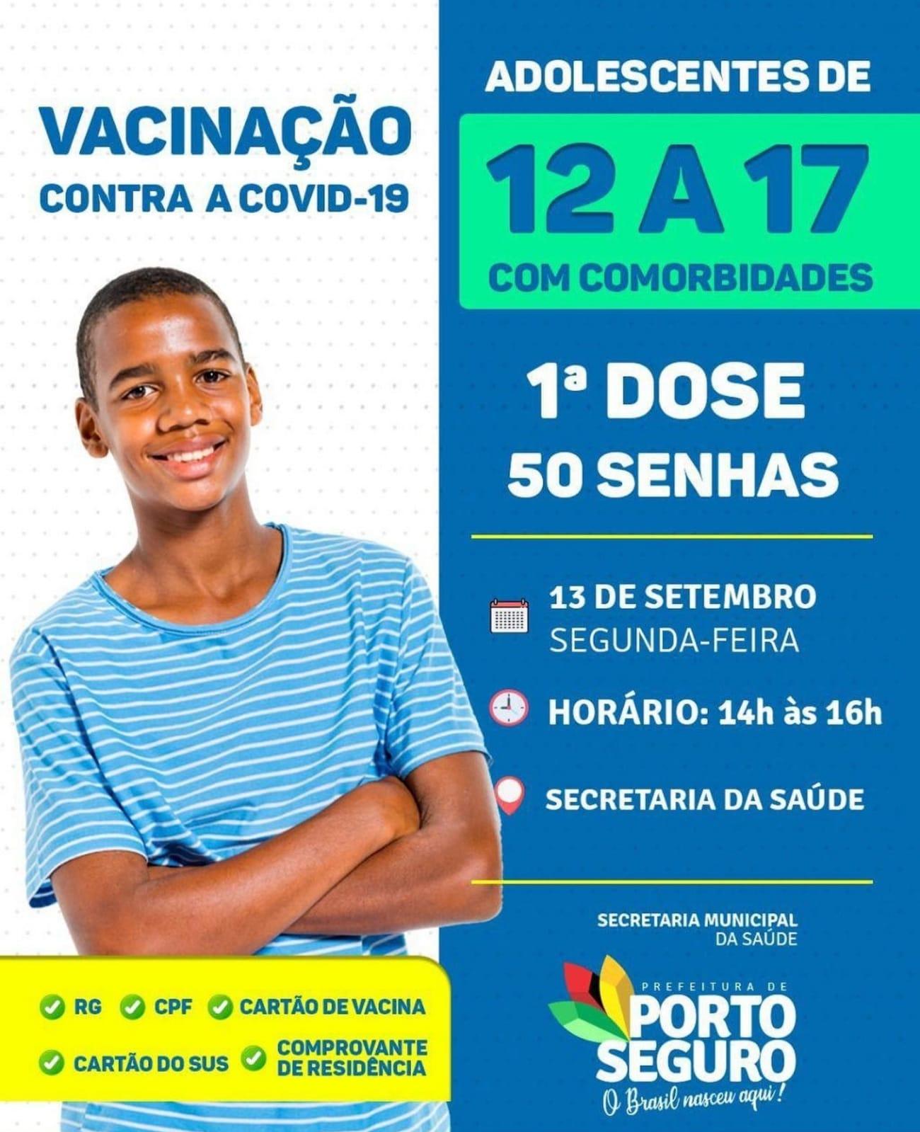 Porto Seguro: Cronograma de Vacinação contra a Covid-19 (13 de SETEMBRO) 22