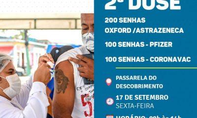 2ª dose de vacina contra Covid-19 em Porto Seguro, dia 17/9 47
