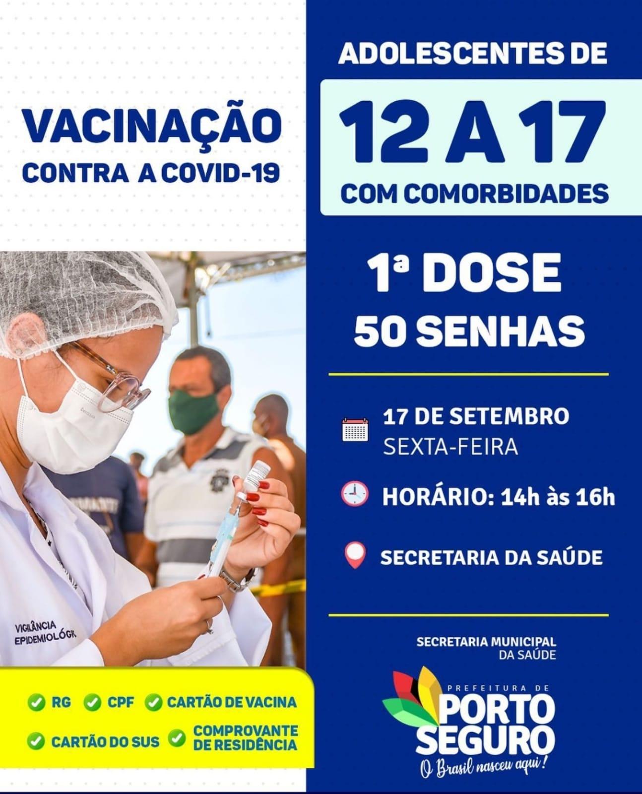 Porto Seguro: Cronograma de Vacinação contra a Covid-19 (17 de SETEMBRO) 28