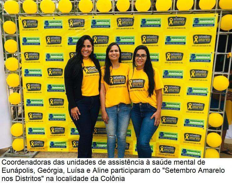 """Setembro Amarelo nos Distritos"""" leva serviços especializados em saúde mental para população da Colônia 32"""