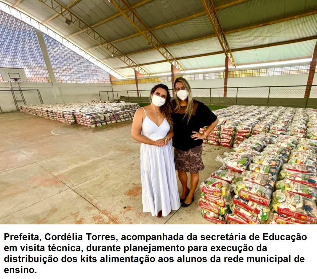 Eunápolis: Secretaria de Educação inicia distribuição de mais de 19 mil kits alimentação nesta segunda-feira 18
