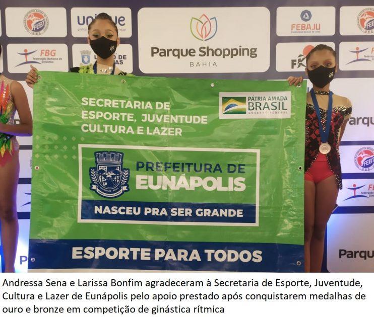 Alunas da Escola de Ginástica Rítmica da Prefeitura de Eunápolis são destaques em competição em Lauro de Freitas 29
