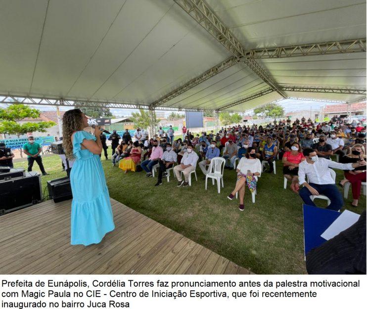 Domingo é marcado por inaugurações e palestra de ex-atleta no município de Eunápolis 38