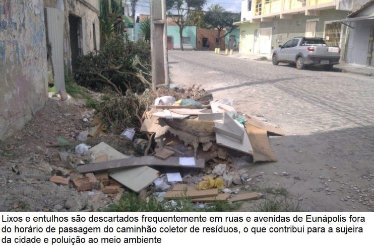 Descarte do lixo é questão de consciência da população do município de Eunápolis 20