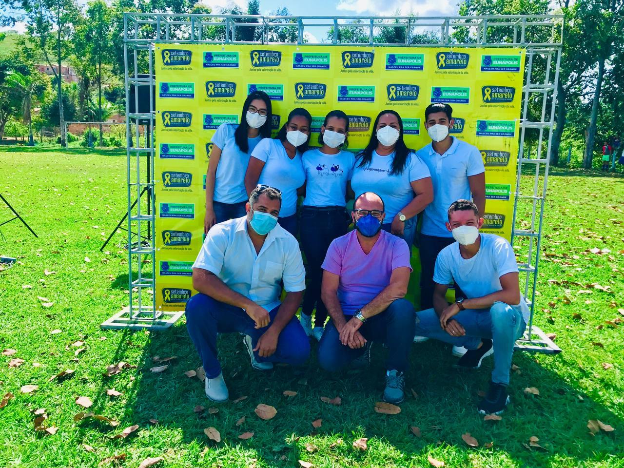 Ação da Secretaria de Saúde de Eunápolis promove SETEMBRO AMARELO em mais um distrito 35