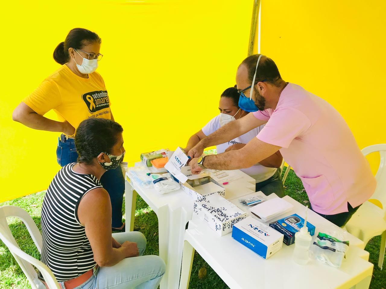 Ação da Secretaria de Saúde de Eunápolis promove SETEMBRO AMARELO em mais um distrito 34