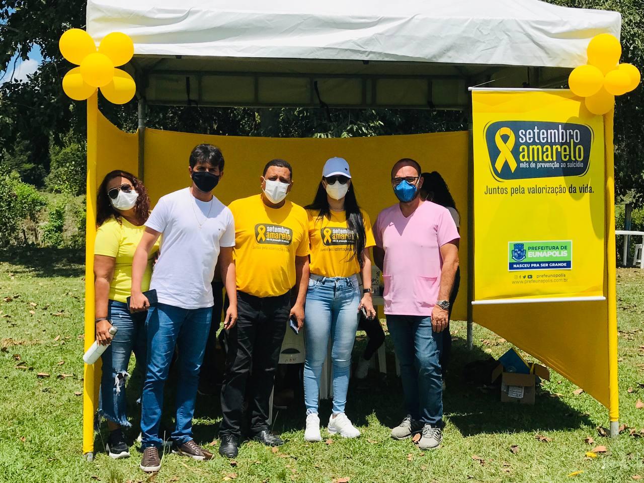 Ação da Secretaria de Saúde de Eunápolis promove SETEMBRO AMARELO em mais um distrito 33